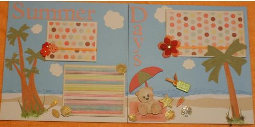 Summer days Scrapbook Pages